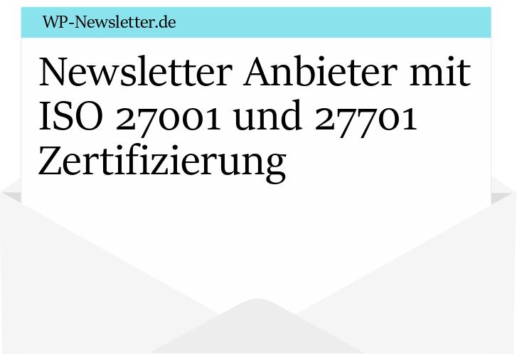 Wordpress Newsletter Anbieter mit ISO 27001 und 27701 Zertifizierung