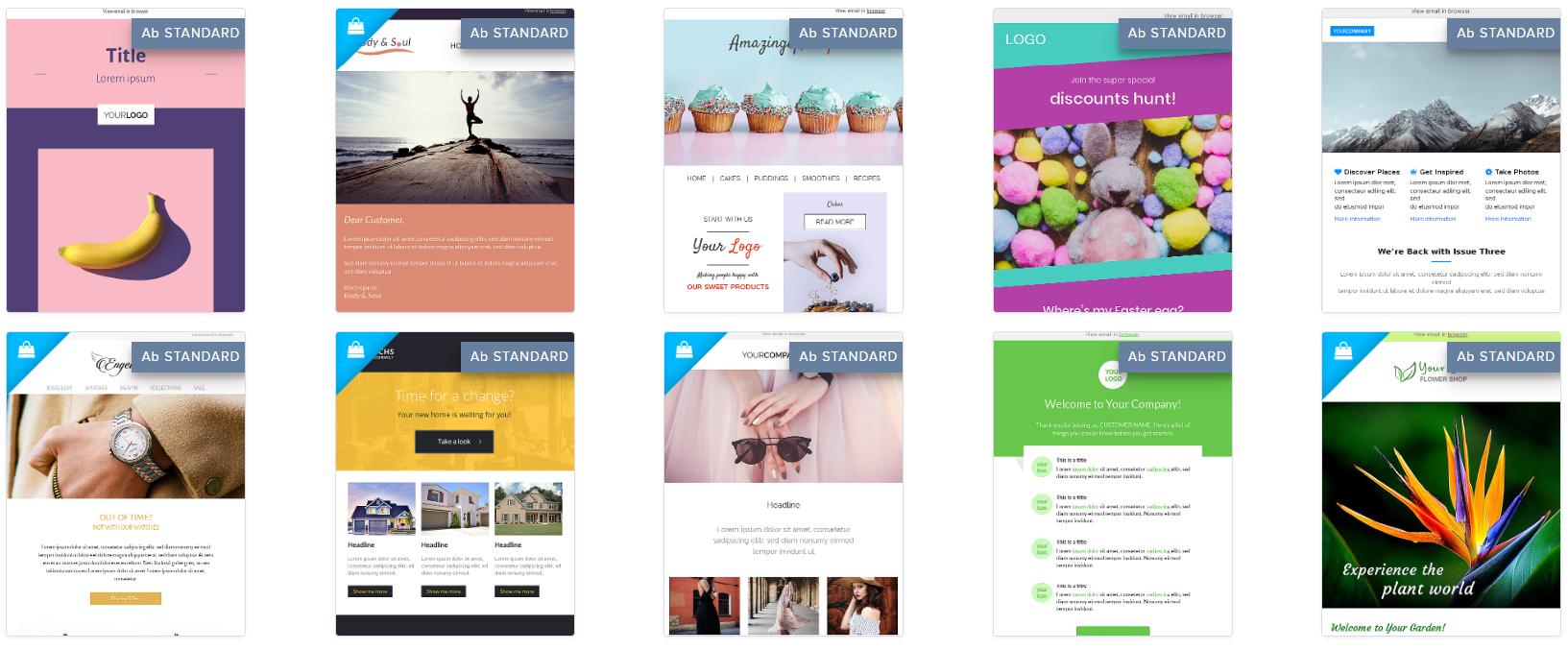 Design Vorlagen für den eignen Newsletter von Newsletter2go
